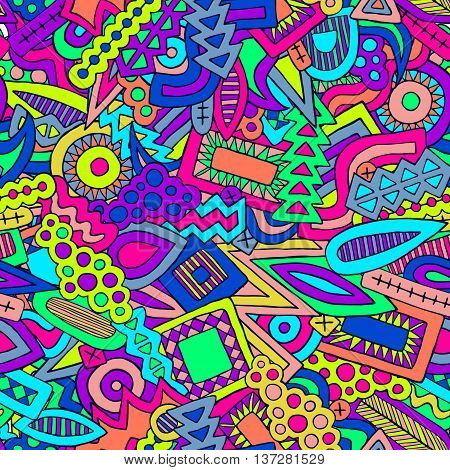 Doodle Abstract Ethnic Elements Trendy Summer Pattern 2