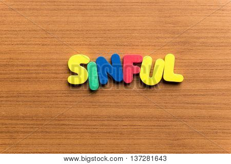 Sinful Colorful Word