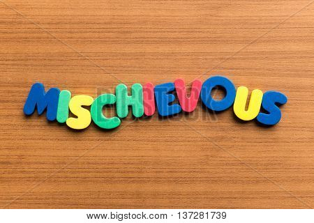 Mischievous Colorful Word