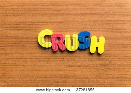 Crush Colorful Word
