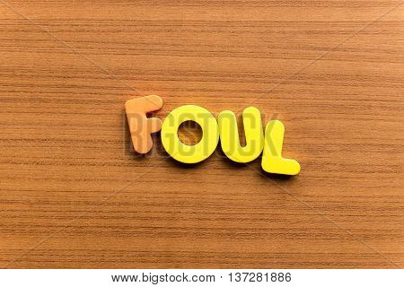 Foul Colorful Word