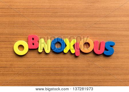 Obnoxious Colorful Word