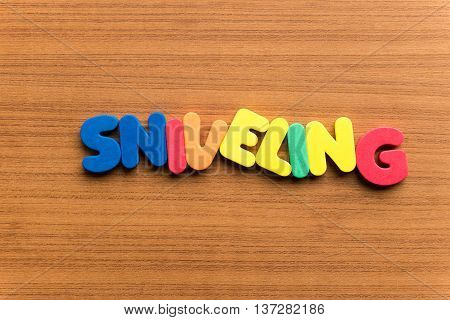Sniveling Colorful Word