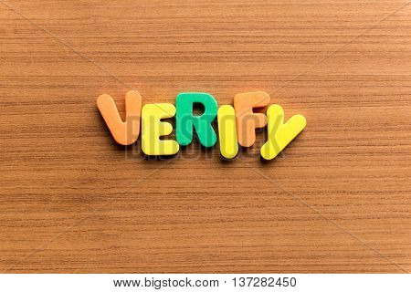 Verify Colorful Word