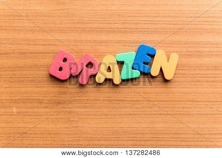 Brazen Colorful Word