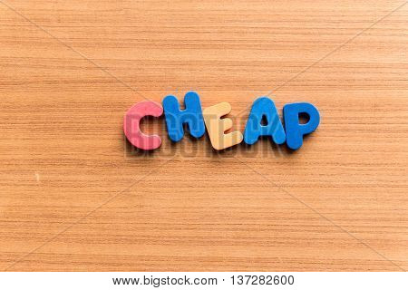 Cheap Colorful Word