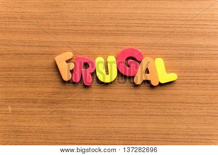 Frugal Colorful Word