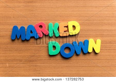 Marked Down Colorful Word