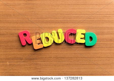 Reduced Colorful Word