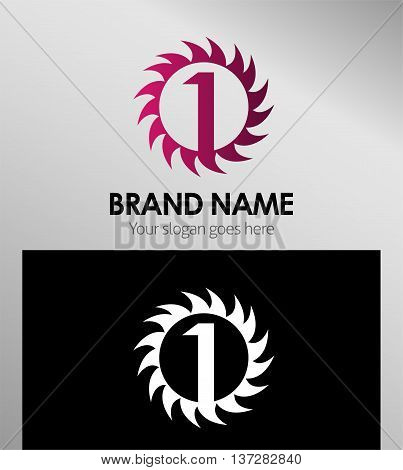 Number one 1 logo icon template template design vector