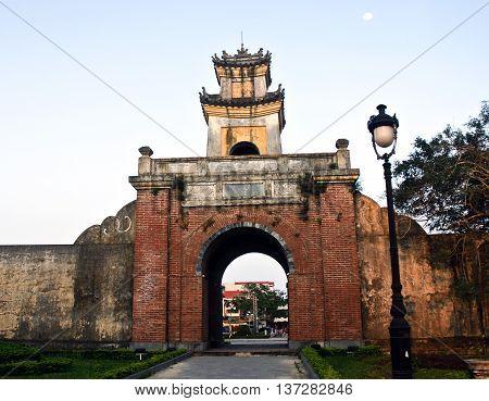 QUANG BINH, VIET NAM, March 2, 2016 the ancient port, the central province of Quang Binh, Vietnam
