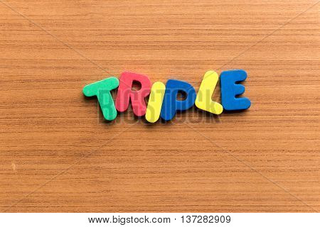 Triple Colorful Word