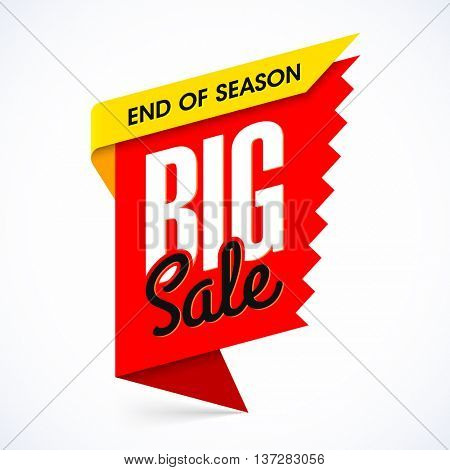 End of season big sale banner