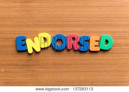 Endorsed Colorful Word