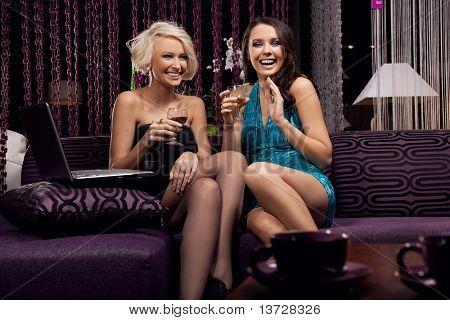 Smiling women