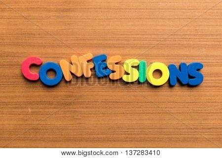 Confessions Colorful Word