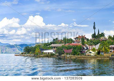 Island Samosir, Lake Toba. Sumatra