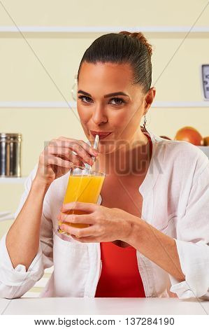 Smoothie Fruit Drink Health Delicious Sip Weight Loss Diet Orange