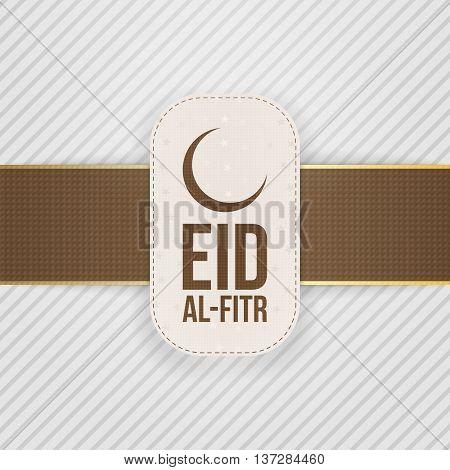 Eid al-Fitr festive Design Tag. Vector Illustration