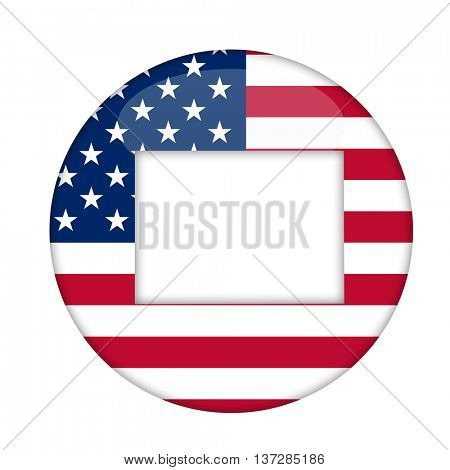 Connecticut state of America badge isolated on a white background.