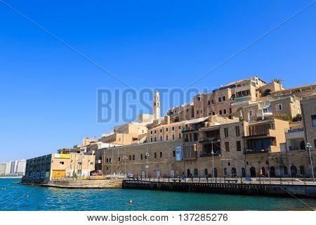 Jaffa, Israel September 17, 2015: Jaffa, View From Sea Port