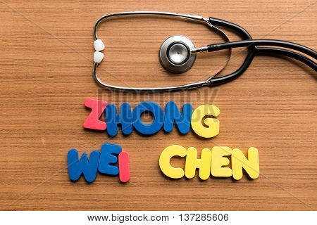 Zhong Wei Chen Colorful Word With Stethoscope