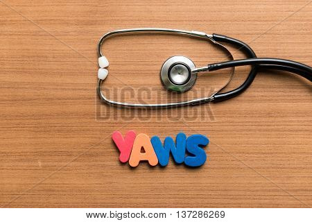 Yaws Colorful Word With Stethoscope