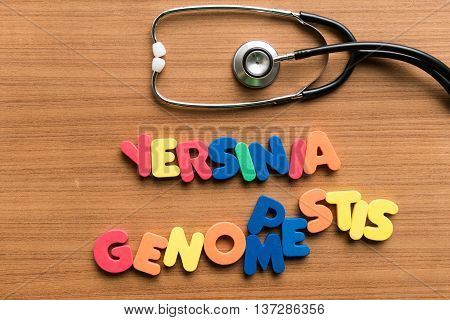 Yersinia Pestis Genome Colorful Word With Stethoscope