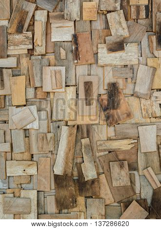 Scrap wooden wall texture background. Recycled concept.