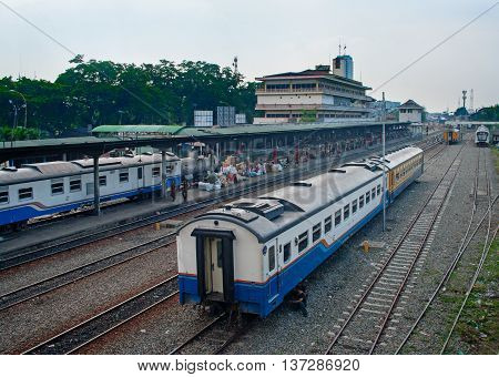 Railway Station In Medan, Indonesia.