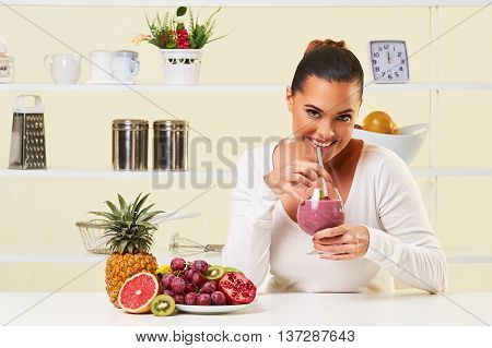 Smoothie Fruit Drink Health Delicious Sip Weight Loss Diet