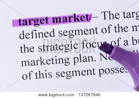 Target Market Word Highlighted