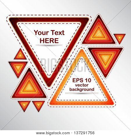 vector background from colorful triangles with text place
