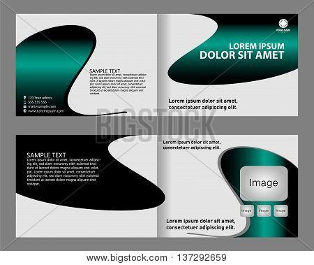 Professional business Brochure templatebi-fold template design vector