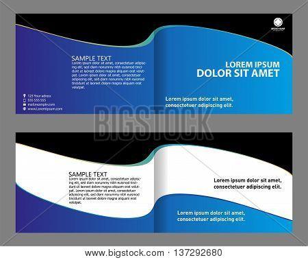 Brochure design bi-fold Brochure design bi-fold blue