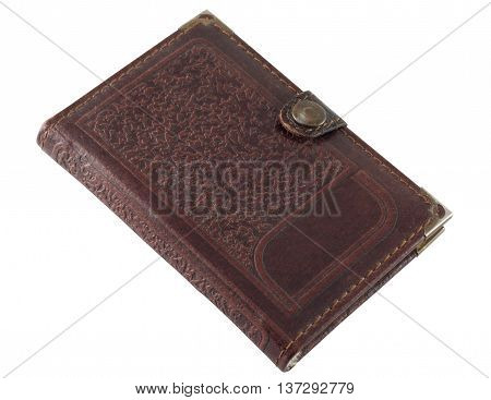 Notebook leather isolated on a white background.