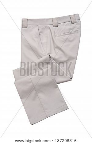 Pants Trousers for Man Gray Color on White Background