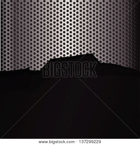 Cracked steel texture hold metal abstract background vector illustration eps10