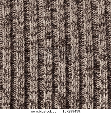 Beige Knitted Wool Texture As Background