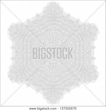 Vintage Retro Rosette Isolated on White Background