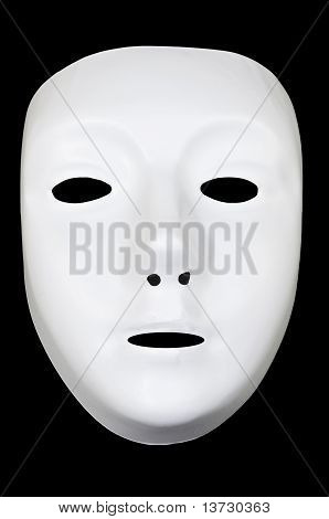 White Drama Mask