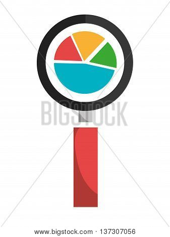 Growth statistics with graphics, isolated flat icon vector illustration.