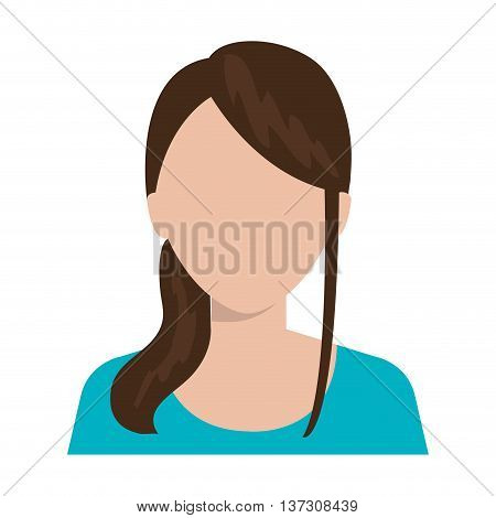 Beautiful, young and executive woman profile, vector illustration design.