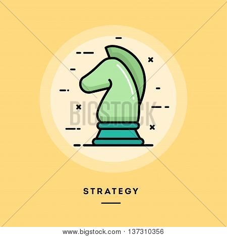 Strategy flat design thin line banner usage for e-mail newsletters web banners headers blog posts print and more
