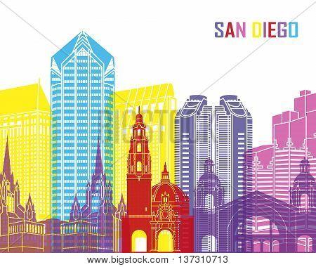 San Diego Skyline Pop