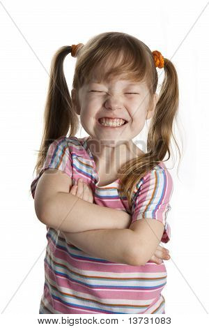 Cheerful Little Girl Smile.