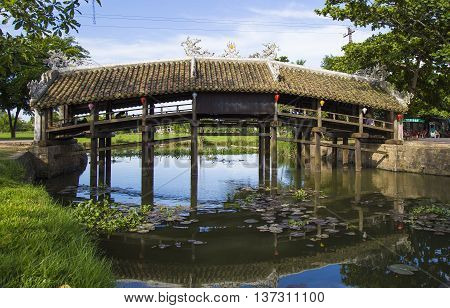 Old brick bridge Thanh Toan in Hue city, the old capital of Vietnam