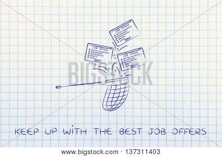 Net Handling A Group Of Falling Job Offers