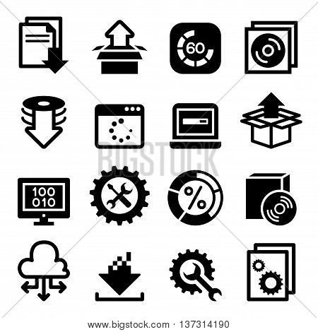Setup configuration maintenance & Installation icon Software & Application