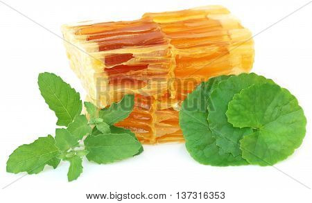 Honey with holy basil and gotu kola as ayurvedic combination